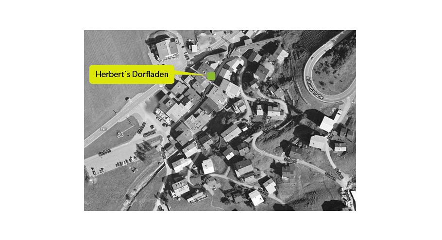 Lage und Location Dorfladen - Stuben